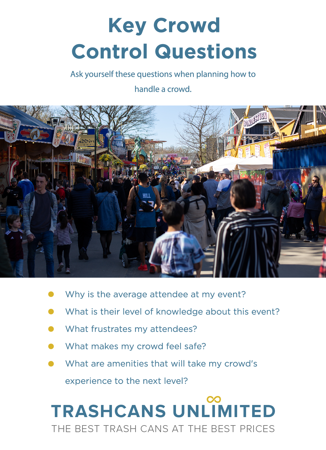 Crowd control plans will help you manage busy days at an amusement park without harming your customer's experience