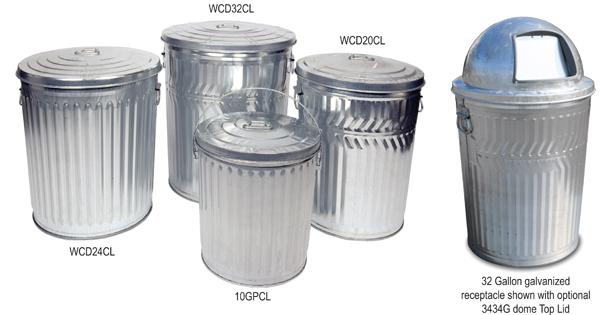 Metal Trash Cans Galvanized Trash Can Galvanized Garbage